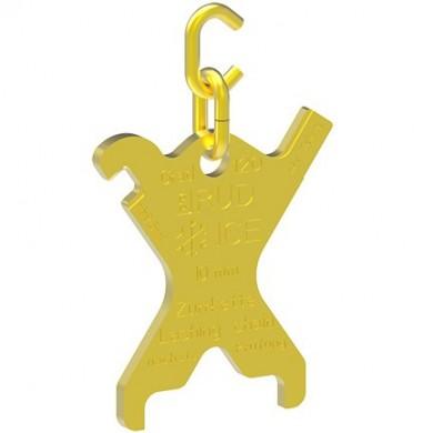 ICE-Lashing chain identification tag IVSK-KZA