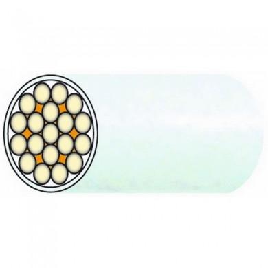 CÂBLE INOX MONOTORON de 19 fils GAINÉ PVC Traité anti-UV - BLANC 1350