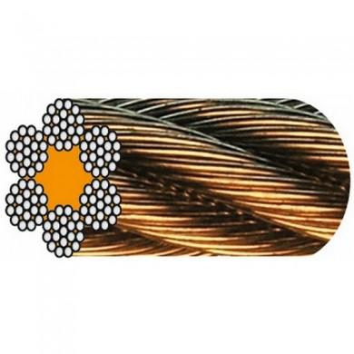 CÂBLE GALVA 6 torons de 19 fils Âme textile 1022