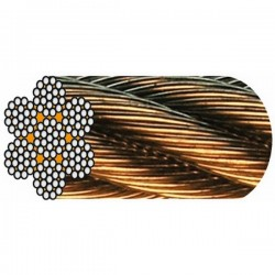 CÂBLE GALVA 7 torons de 19 fils (1 + 6 +12 fils) - Âme métallique