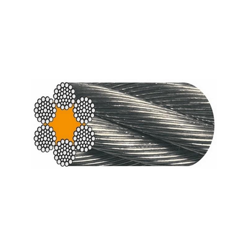 """CÂBLE GALVA 6 x 36 fils """" Warrington Seale """" (1+7+7/7+14 fils) - Âme textile"""