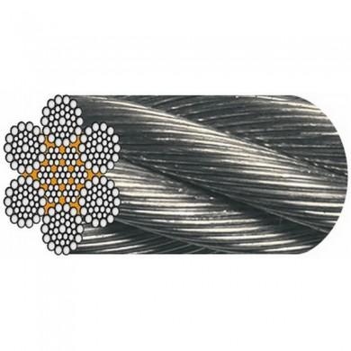 """CÂBLE GALVA 6 x 36 fils """" Warrington Seale """" (1+7+7/7+14 fils) - Âme métal 1062"""