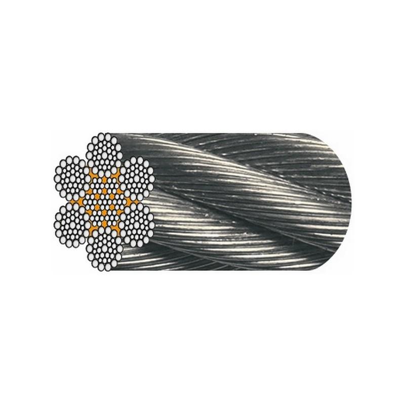 """CÂBLE GALVA 6 x 36 fils """" Warrington Seale """" (1+7+7/7+14 fils) - Âme métal"""