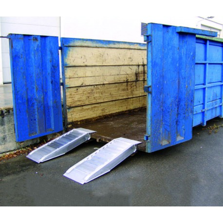 Rampes aluminium, type AVS 150 BENNES - Charge maxi 7 300 kg/paire