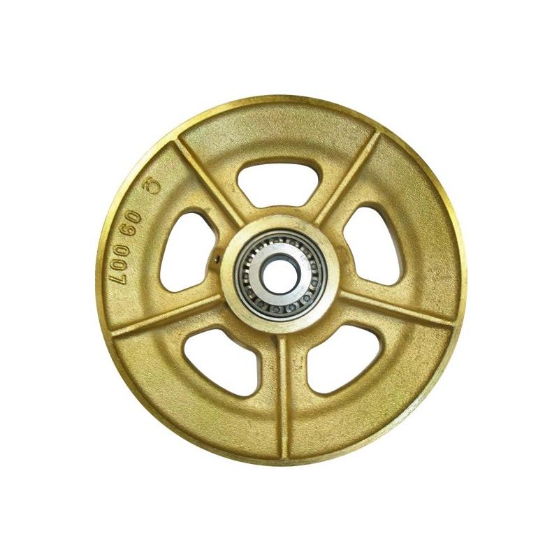 RÉA SUR ROULEMENTS en fonte pour câble Ø 16-18 mm