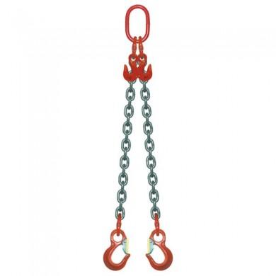 ÉLINGUE CHAÎNE Grade-80 / 2 brins - réglable à 2 crochets standards