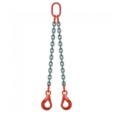 ÉLINGUE CHAÎNE 2 brins - 2 crochets à verrouillage automatique Grade-80