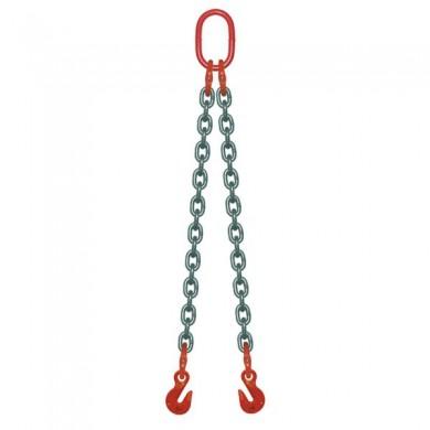 ÉLINGUE CHAÎNE 2 brins - 2 crochets raccourcisseurs Grade-80
