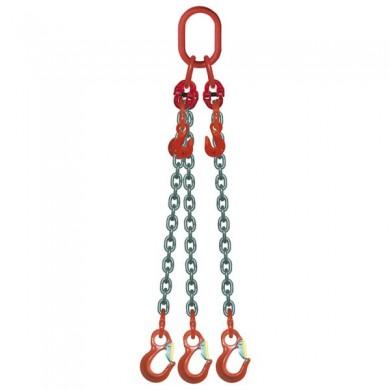 ÉLINGUE CHAÎNE 3 brins - réglable 3 crochets standards Grade-80