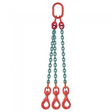 ÉLINGUE CHAÎNE 3 brins - 3 crochets à touret à verrouillage automatique Grade-80
