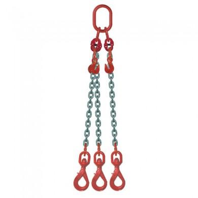 ÉLINGUE CHAÎNE 3 brins - réglable 3 crochets à touret à verrouillage automatique Grade-80
