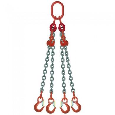 ÉLINGUE CHAÎNE 4 brins - réglable 4 crochets standards Grade-80