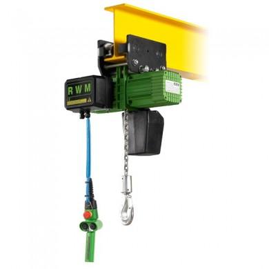 PALAN ÉLECTRIQUE à chaîne « Triphasé » 230/400 V - TYPE CE1: Suspente par chariot électrique - Direction à 1 vitesse