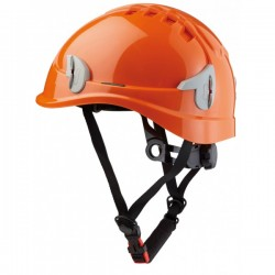 CASQUE MONT.AERE+JUGULAIRE ORANGE