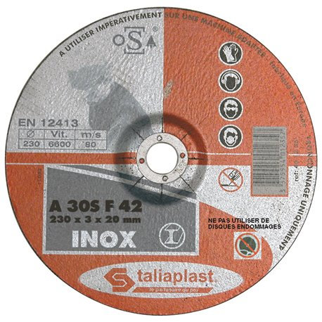 DISQUE ABRASIF POUR INOX 230MM
