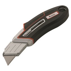 CUTTER A POIGNEE COULISSANTE ET LAME RETRACTABLE (BLISTER)