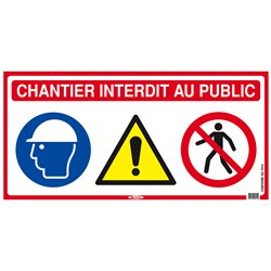 PANNEAU DE CHANTIER 4 EN 1 800X400mm