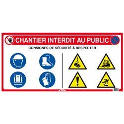 PANNEAU DE CHANTIER 10 EN 1 800X400mm