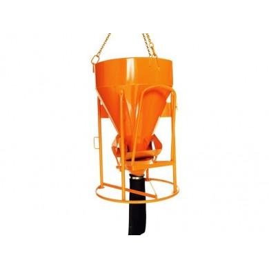 Benne à tuyau à entonnoir de 150 à 4000 litres