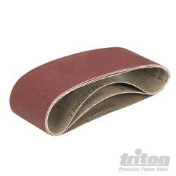 Lot de 3 bandes abrasives en oxyde d'aluminium
