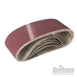 Grain 40. Lot de 5 bandes abrasives en oxyde d'aluminium