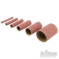 Grain 150. Lot de 6 manchons de ponçage en oxyde d'aluminium