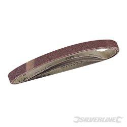 Lot de 5 bandes abrasives 10 x 330 mm - Grain 80