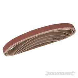 Lot de 5 bandes abrasives 10 x 330 mm