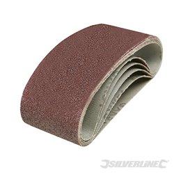 Lot de 5 bandes abrasives 60 x 400 mm - Grain 40