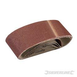 Lot de 5 bandes abrasives 60 x 400 mm - Grain 80