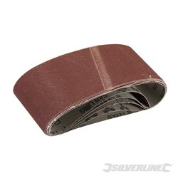 Lot de 5 bandes abrasives 65 x 410 mm - Grain 120
