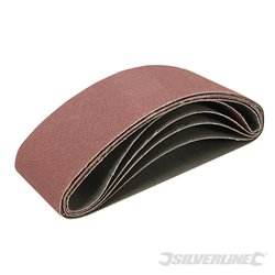 Lot de 5 bandes abrasives 65 x 410 mm