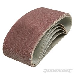 5 bandes abrasives 75 x 457 mm - Grain 40