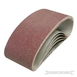 5 bandes abrasives 75 x 457 mm - Grain 60