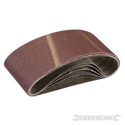 5 bandes abrasives 75 x 457 mm - Grain 80