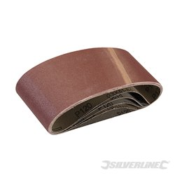 5 bandes abrasives 75 x 457 mm - Grain 120