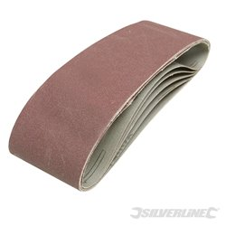 Lot de 5 bandes abrasives 75 x 533 mm - Grain 40