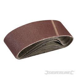 Lot de 5 bandes abrasives 75 x 533 mm - Grain 60