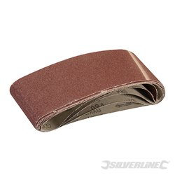 Lot de 5 bandes abrasives 75 x 533 mm - Grain 80