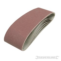 Lot de 5 bandes abrasives 75 x 533 mm - Grain 120