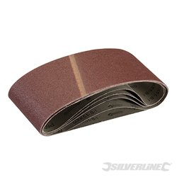 Lot de 5 bandes abrasives 100 x 610 mm - Grain 60