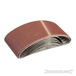 Lot de 5 bandes abrasives 100 x 610 mm - Grain 80