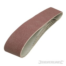 Lot de 5 bandes abrasives 100 x 915 mm - Grain 80