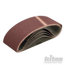 Lot de 5 bandes abrasives 64 x 406 mm grain 100