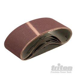 Lot de 5 bandes abrasives 64 x 406 mm grain 150