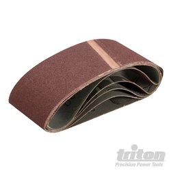 Lot de 5 bandes abrasives 75 x 457 mm Grain 100