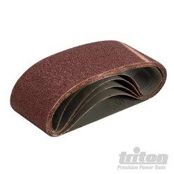 Lot de 5 bandes abrasives 75 x 480 mm Grain 40