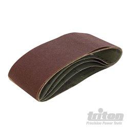 Lot de 5 bandes abrasives 75 x 480 mm Grain 60