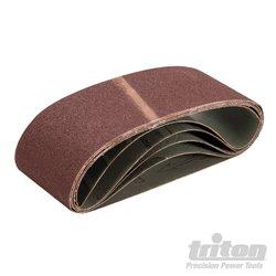 Lot de 5 bandes abrasives 75 x 480 mm Grain 80