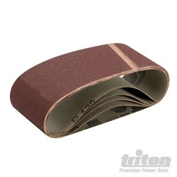 Lot de 5 bandes abrasives 75 x 480 mm Grain 120